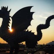 Памятник дракону Зиланту фотографии