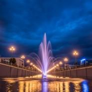 Фонтаны на реке Булак фотографии