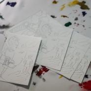 Выставка «Зимние медиа-фантазии по мотивам  Матисса и Шагала» фотографии