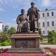 Памятник зодчим казанского Кремля фотографии