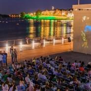 Кинопоказ под открытым небом 2018 фотографии