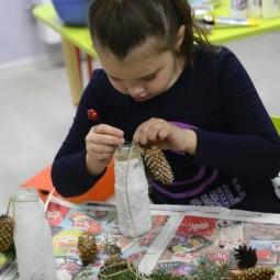 Мастер-класс по созданию новогодних светильников «Ледяная сказка» 2018