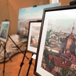Выставка работ глухих художников в холле Музея естественной истории Татарстана