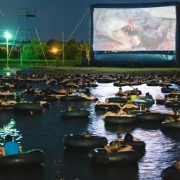 Кинопоказы под открытым небом на озере «Кабан» 2020
