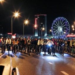 Ночной велофест в Казани 2019