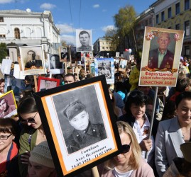 Акция «Бессмертный полк» в Казани 2021