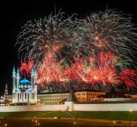 Праздничный салют в честь присвоения Казани звания «Город трудовой доблести» 2020