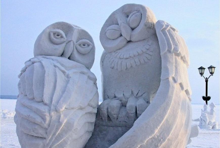 Форум снежных фигур вКазанском зооботсаду 2019
